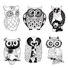 black and white designs clipart