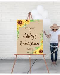 baby shower welcome sign deal alert custom welcome sign sunflower wedding welcome sign