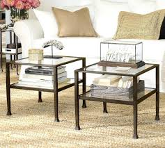 pottery barn griffin round coffee table furniture tanner round coffee table reviews nesting cube with
