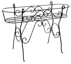 antica soffitta bicicletta portavasi in ferro battuto
