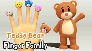 teddy bear finger family nursery rhymes 3d animation from