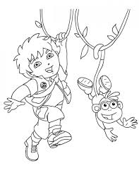 awesome printable diego cartoon coloring books kids