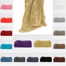 Faux Fur Throw Rugs Long Hair Faux Fur Throw Rug By Hotel Living Manchester House