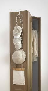 hanging hat cap rack over the door or closet rod with