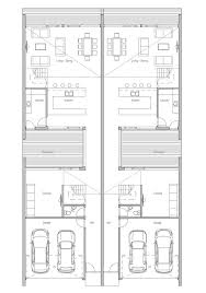 semi detached floor plans house design semi detached house plan ch108d 11 design