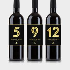 gold wine bottle table numbers customized wine bottle table numbers black gold wine labels