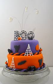 a colorful halloween cake just cake