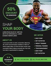 fitness flyer template 80 creative modern free business flyers templates utemplates