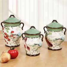 italian canisters kitchen villa italian inspired kitchen canister set