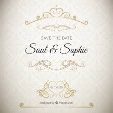 wedding invitations freepik wedding invitation with golden ornaments vector free
