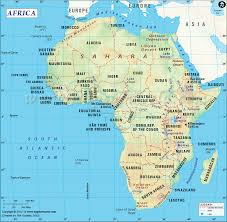 Interactive Map Of Africa by Map Of Africa Continent Indicates The African Countries