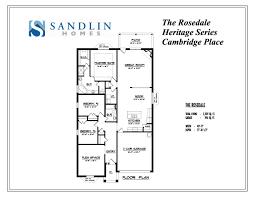 sandlin floorplans rosedale u2013 sandlin homes