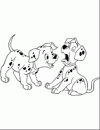 brilliant dalmatian dog coloring page with 101 dalmatians coloring