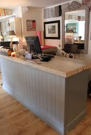 Salon Cabinets Home Design Salon Reception Desk Rustic Railings Cabinets Salon