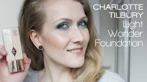 charlotte tilbury light wonder foundation swatches charlotte tilbury light wonder foundation first impression review