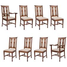 home design furniture kendal a rare set of 8 oak antique dining chairs by arthur simpson of
