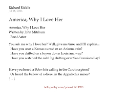 Louisiana travel poems images America why i love her by richard riddle hello poetry jpg