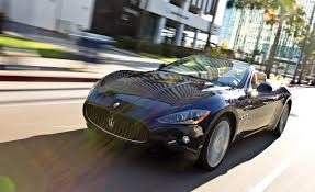 maserati granturismo convertible blue 2011 maserati granturismo convertible road test review car and