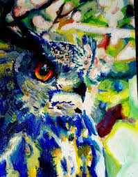 photo collection colorful abstract owl paintings