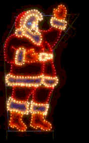 commercial waving santa lights holidaylights