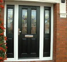 Pvc Exterior Doors Coloured Door And Panel With White Frame Https