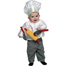 amazon com infant chef costume size infant 12 24 months clothing