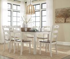 7 dining room sets signature design by woodanville white and brown 7