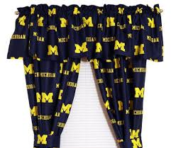 Of Michigan Curtains Of Michigan Wolverines Window Treatments Curtains