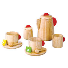 wooden toy kitchen food make believe trends and plan toys set