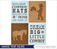 Cowboy Nursery Decor by Cowboy Nursery Art Blue Brown Nursery Decor Boots Chaps And