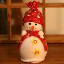 ornament supplies snowman pendant apple bag