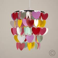 girls pretty hearts bedroom nursery ceiling pendant light shade