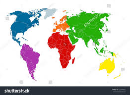 World Map Countries Political Map World Colorful World Mapcountries Stock Vector