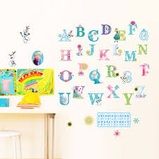 online get cheap baby room wall murals aliexpress com alibaba group cartoon snow queen snow baby english alphabet wall stickers babies kids room earlier education wall decals