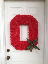 Ohio State Home Decor by Ohio State University Block O Door Hanger Wreath From Flower