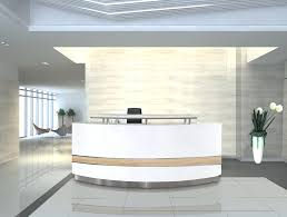 Circular Reception Desk Desk Circular Reception Desk Lobby Modern White Curved Reception