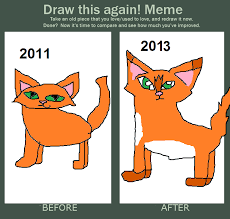 Meme Drawings - how i draw firestar then and now this is a meme by artwolf327 on