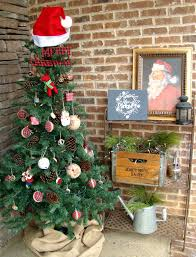 southern bluebird day rustic christmas porch