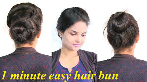 1 minute easy and perfect everyday hair bun cute messy bun
