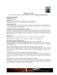 Pastor Resume Template Pastor Resume Sles Anthony M Utsey 1900 For