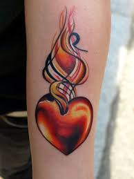 heart tattoo ideas u2013 what is the meaning and where to place it