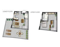 1 bedroom with loft floor plans shamal the waves loft apartments by lootah floor plan details