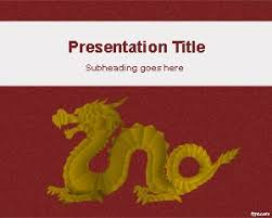 new templates for powerpoint presentation free gold dragon powerpoint template