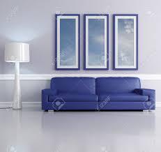 Lampen In Wohnzimmer Blaue Sofa Im Wohnzimmer Mit Lampe Und Bild Frame Das Art Bild