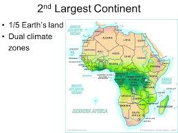 africa map climate zones geography of africa 2 nd largest continent 1 5 earth s land dual