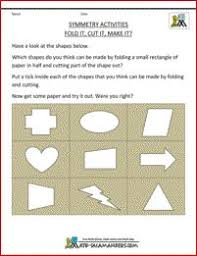 draw the line of symmetry geometry worksheets second grade and