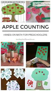 apple counting activities for preschoolers counting activities
