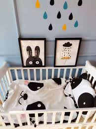 Bedroom Design Panda Cute Tassel White And Black Track Circular Blanket Cotton Baby