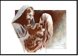 jesus smiling holding a child shiloh christian art beaux arts