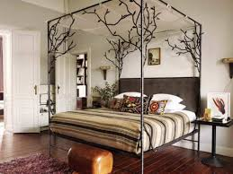 Canopy Bed Frames Size Canopy Bed Frame With Black Iron Four Poster And Ornate
